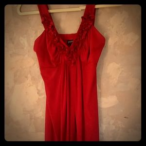 Shimmery Deep Red Dress